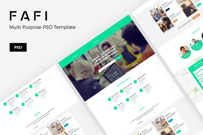 Cover Image For Fafi – Creative Agency Website PSD Template