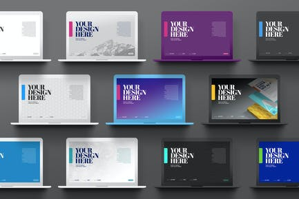 Laptop Mockup Minimal Pro Clay Changeable Color