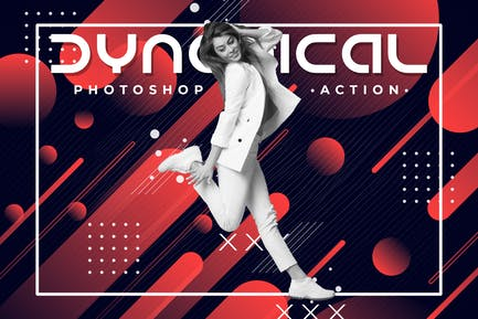 Dynamical Poster Photoshop Action