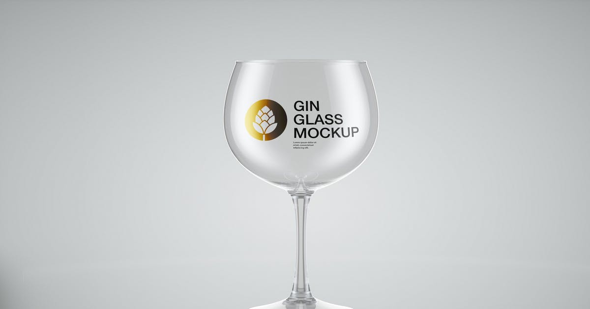 Download Gin Glass Mockup by roverto007