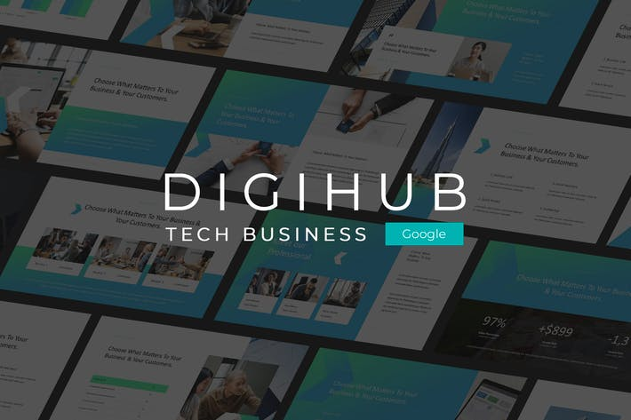 Thumbnail for Digihub - Tech Business Google Slides Template