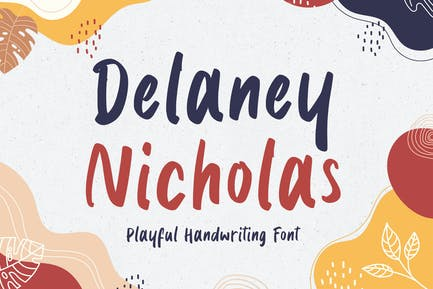 Delaney Nicholas - Playful Font