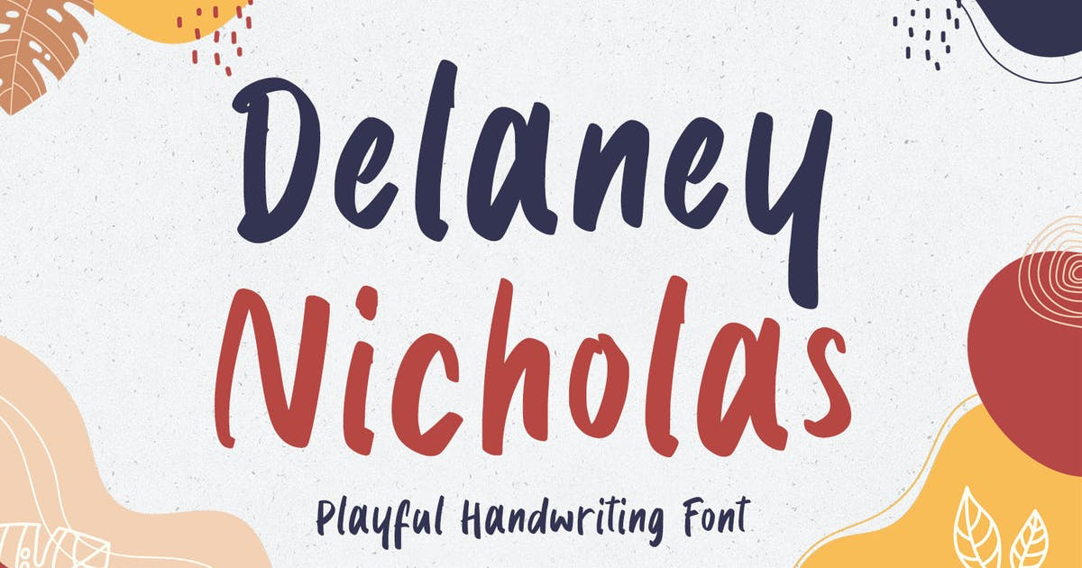 Download Delaney Nicholas - Playful Font by kotakkuningstudio