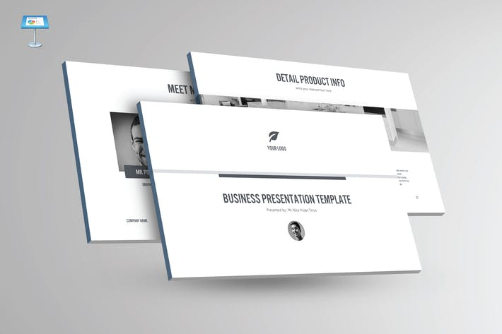 Thumbnail for BLACK & WHITE - Multipurpose Keynote Template V23