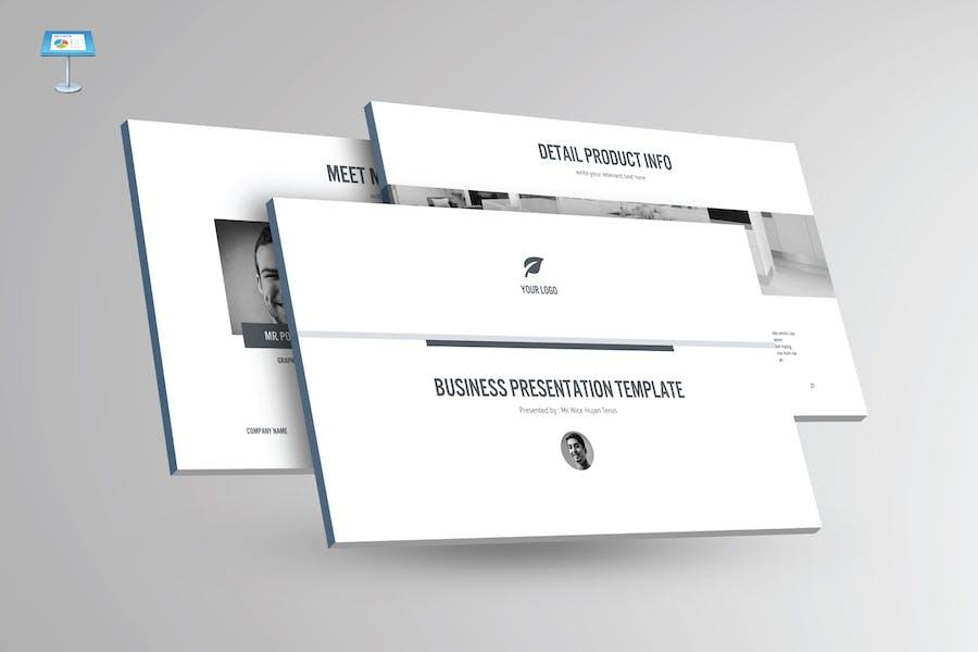 BLACK & WHITE - Multipurpose Keynote Template V23