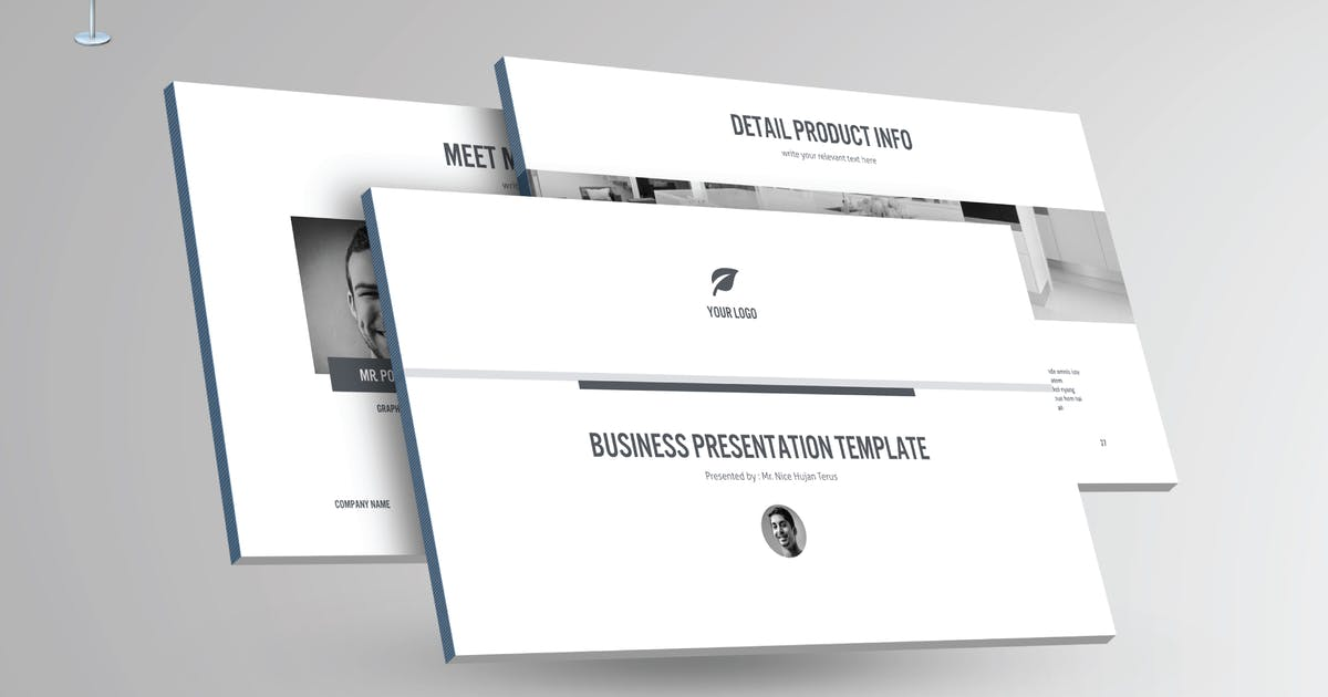 Download BLACK & WHITE - Multipurpose Keynote Template V23 by Shafura