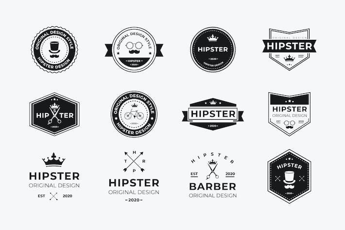AWR 12 Hipster Badges