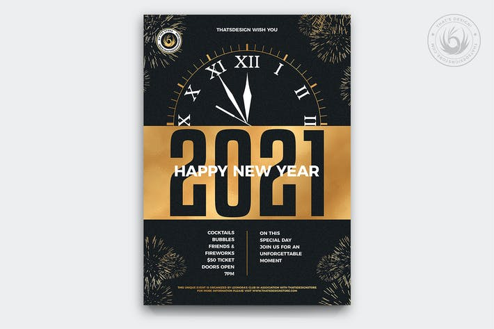 Thumbnail for New Year Flyer Template V10