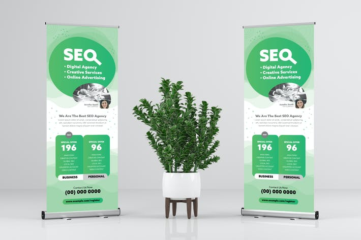 Thumbnail for SEO / Marketing / Business Rollup Banner Design