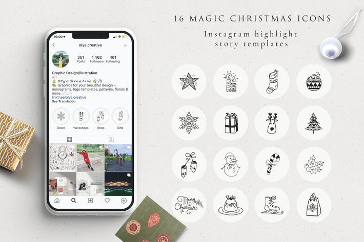 Thumbnail for Xmas Instagram Highlight Story Icons