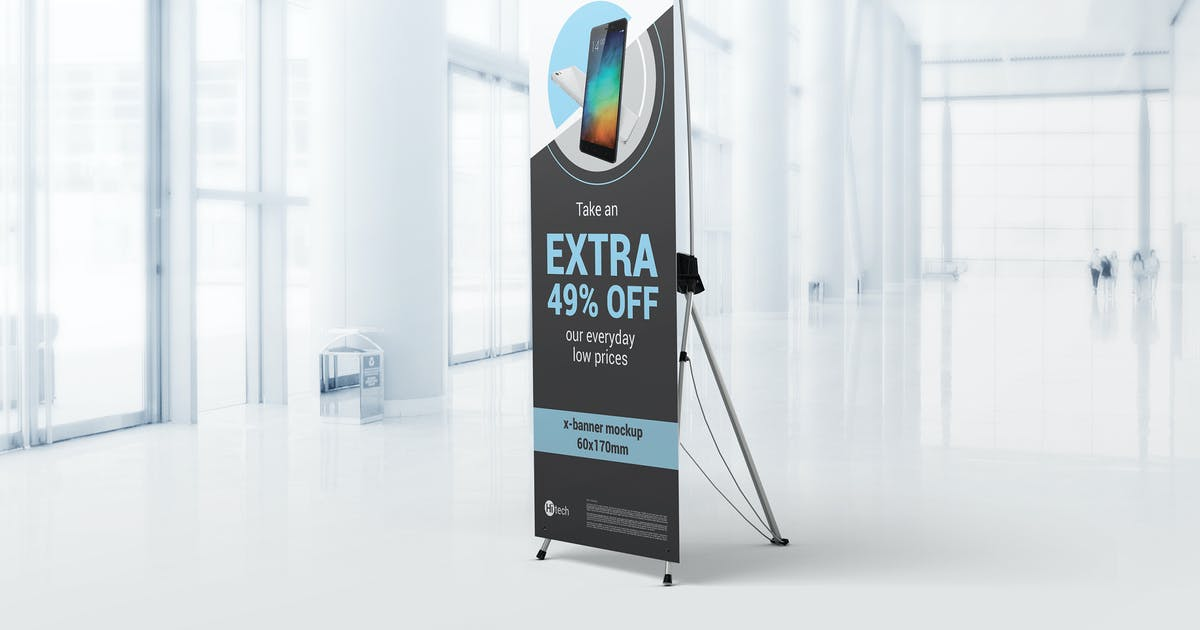 Download X-Stand Banner Mockups by StreetD