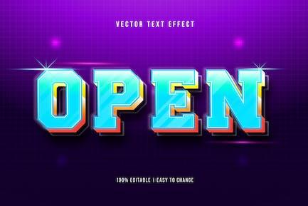 Blue Bold - Gradient Text Effect