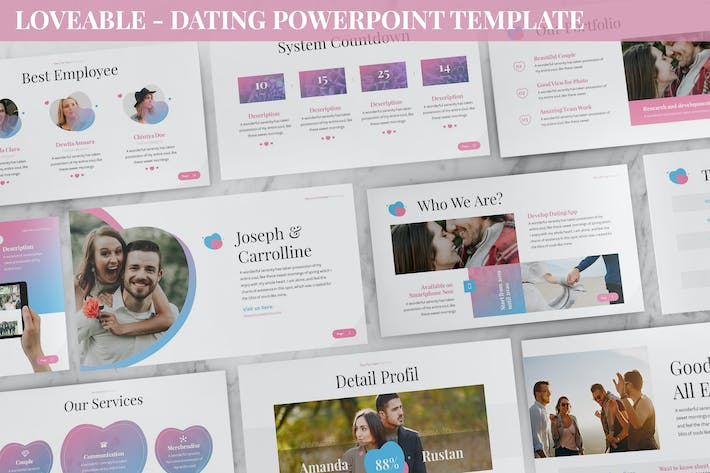 Thumbnail for Loveable - Dating Powerpoint Template
