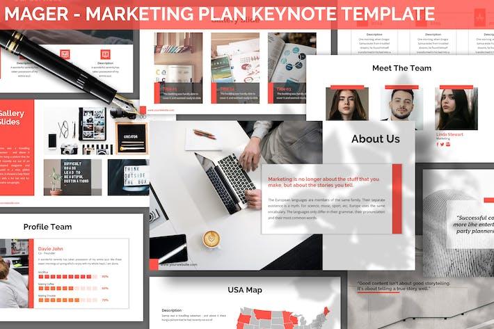 Thumbnail for Mager - Marketing Plan Keynote Template