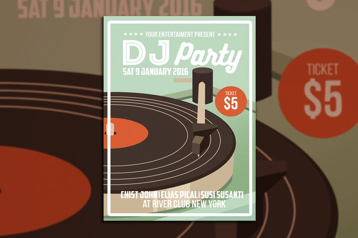 Thumbnail for DJ Party Flyer Poster