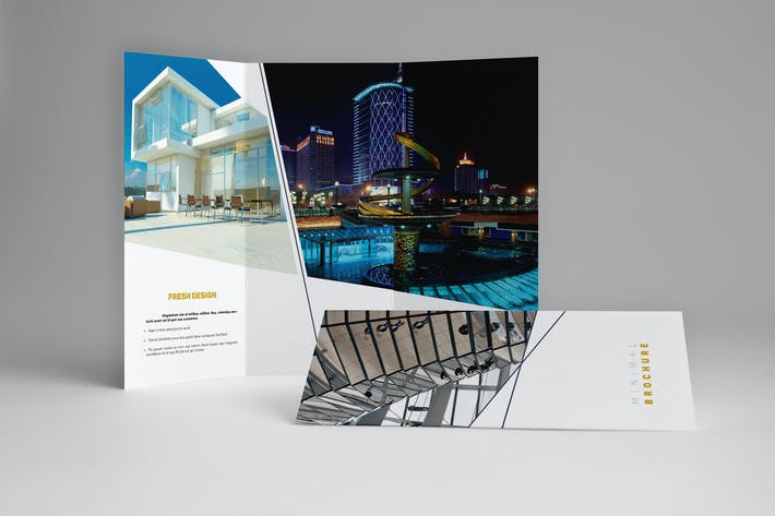 Thumbnail for Minimal Universal Trifold Brochure