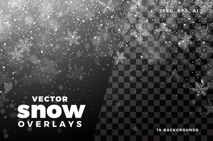 Cover Image For Vector Snow Overlay Collection