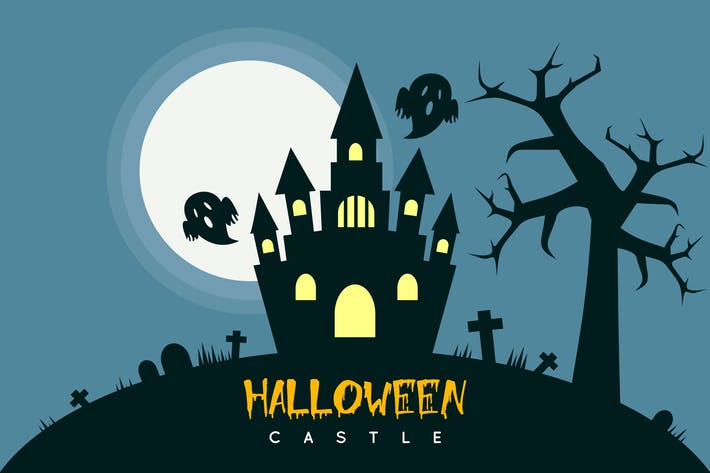 Thumbnail for Halloween-Schloss - Illustration Hintergrund