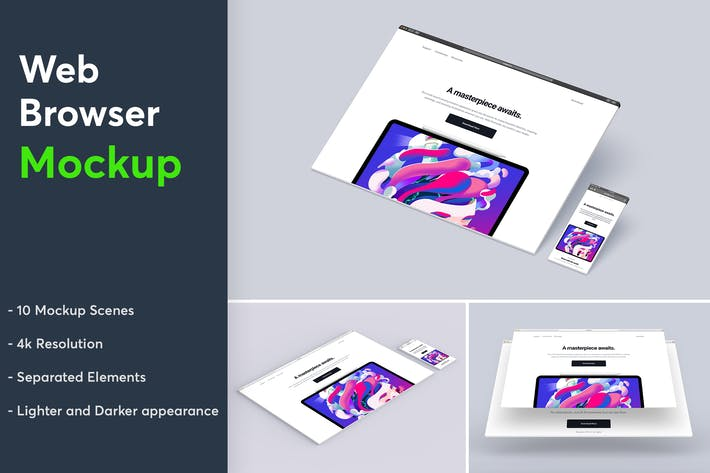Thumbnail for Website Browser Mockup 3.0
