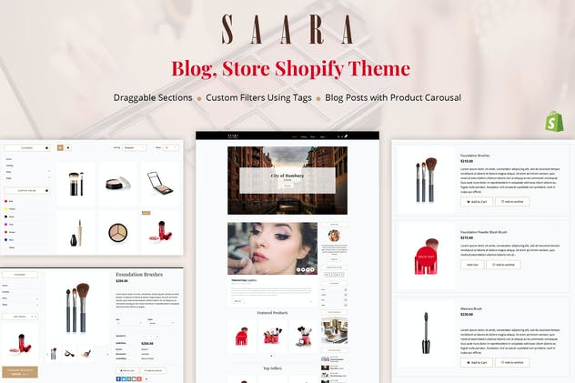 Saara - Blog, Store Shopify Theme