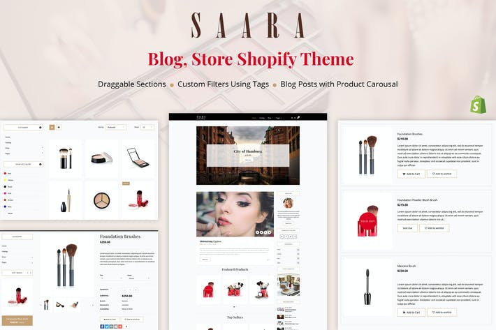 Thumbnail for Saara - Blog, Store Shopify Theme