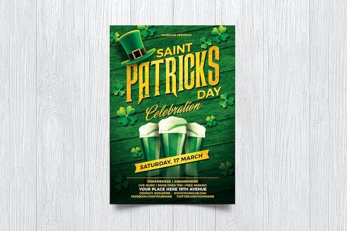 dépliant ête de la Saint-Patrick