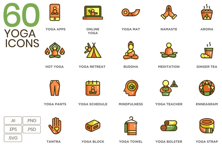 Thumbnail for 60 Yoga Icons