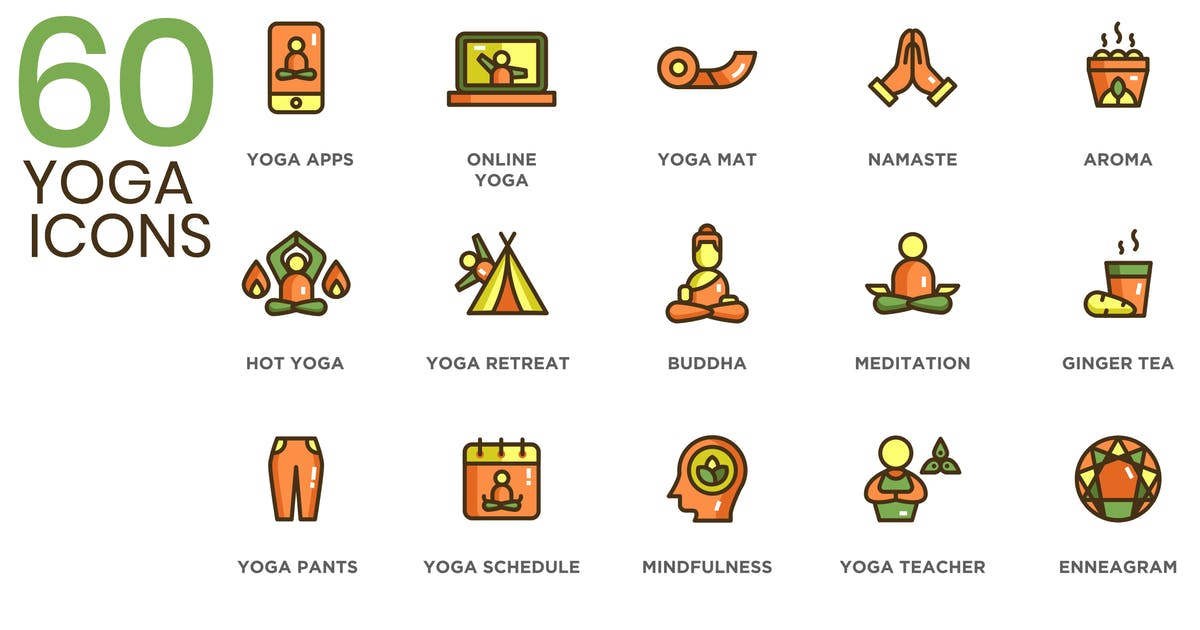 Download 60 Yoga Icons by Unknow
