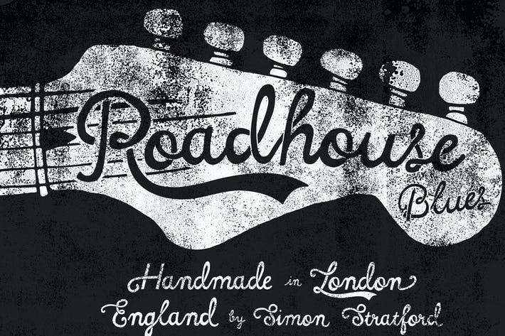 Thumbnail for Roadhouse blues font