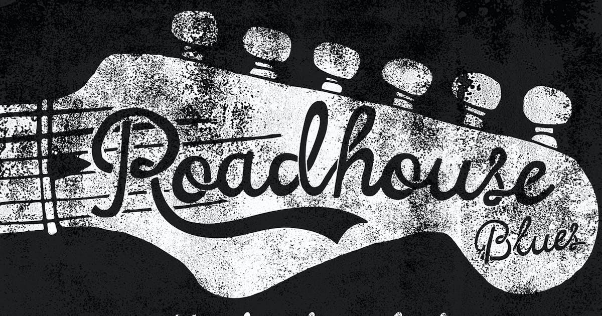 Roadhouse blues font by simonok