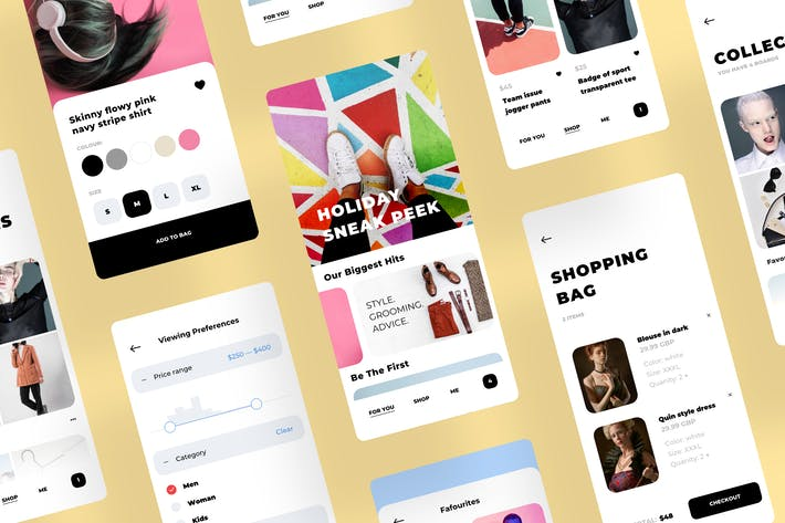 Thumbnail for Fashion Shop Clean and Trending Mobile UI Kit