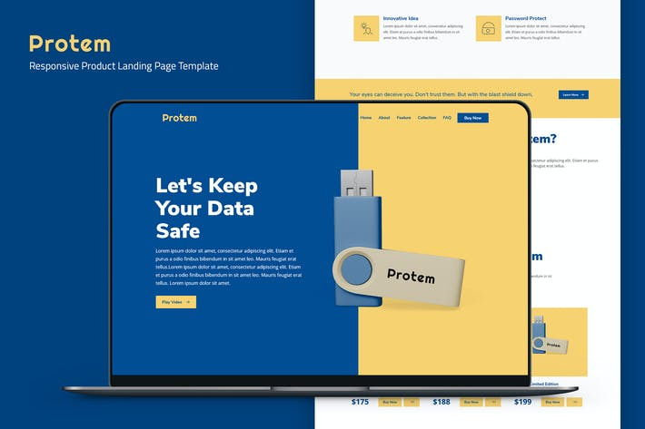 Protem — Product Landing Page Template
