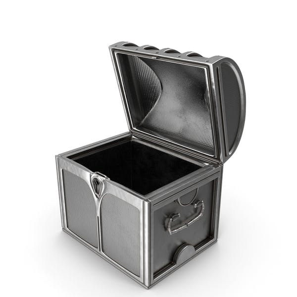 Small Silver Chest Open