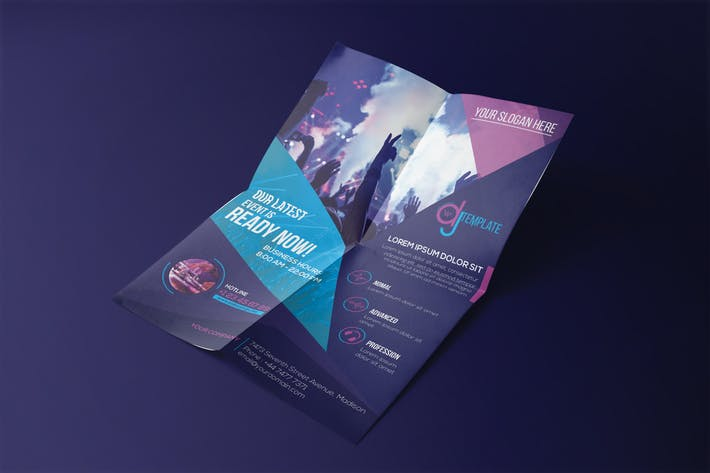 dj a5 brochure template by wutip on envato elements
