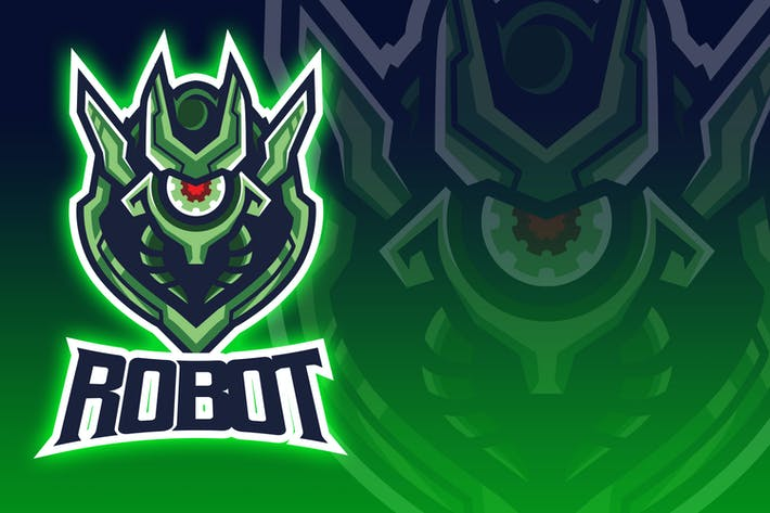 Thumbnail for Logo Esport de la tête de robot