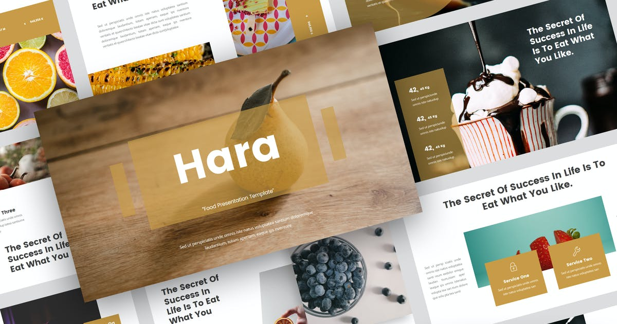 Download Hara - Food PowerPoint Template by StringLabs