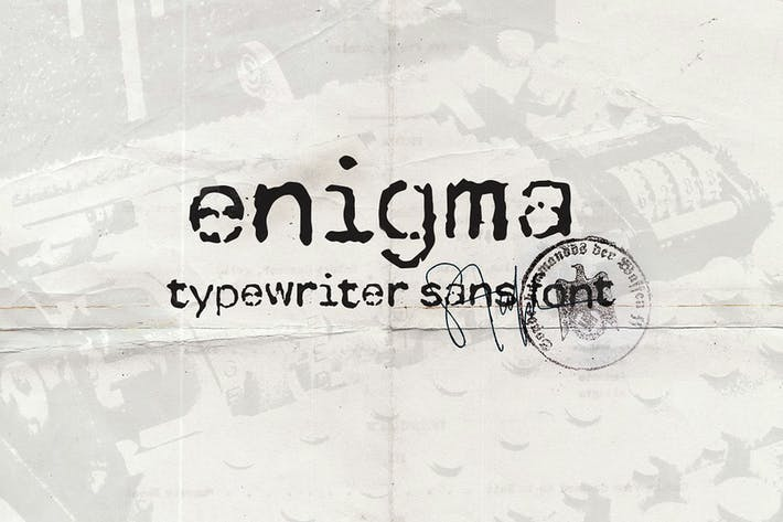 Thumbnail for Enigma Typewriter Sans Font