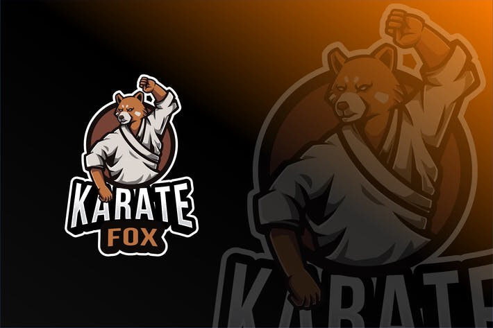 Thumbnail for Karate Fox Logo Template