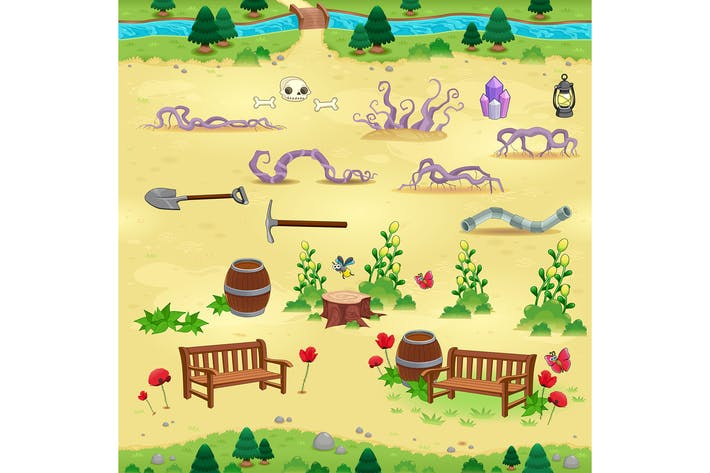 Natural Items for Games and App