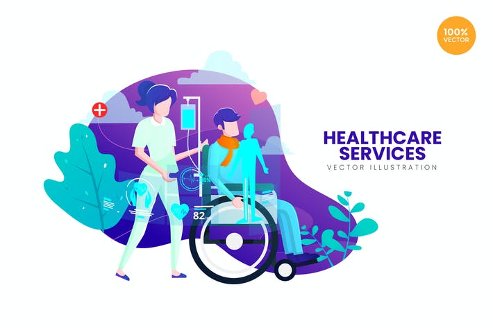 Thumbnail for Healthcare Service Vector Illustration Concept