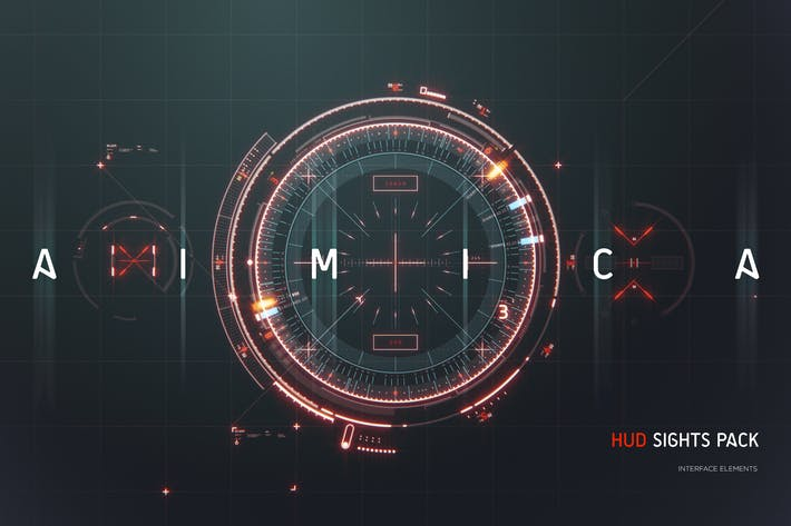 Thumbnail for AIMICA - HUD Futuristic Sights UI elements pack