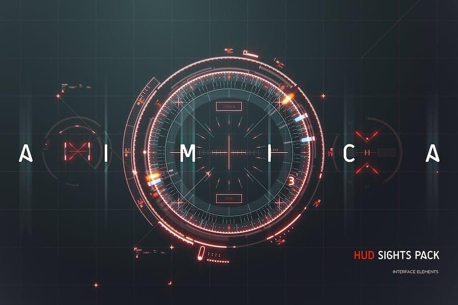 AIMICA - HUD Futuristic Sights UI elements pack