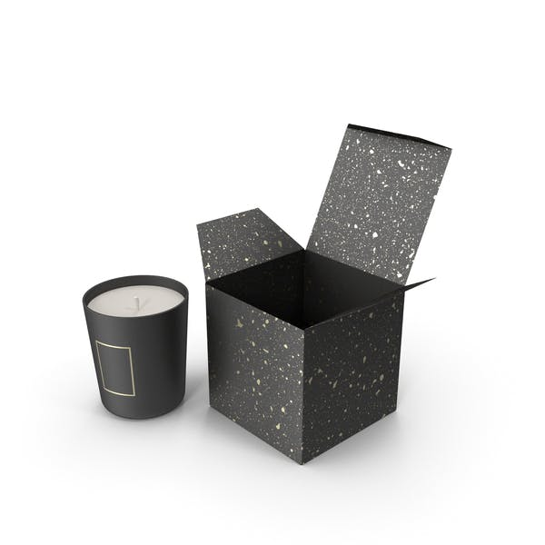 Black Candle with Black Box