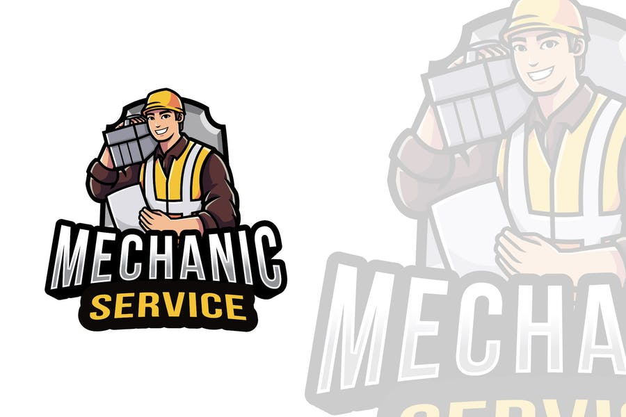 Mechanic Service Logo Template