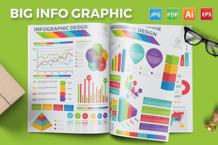 Thumbnail for Big Set Infographics Elements Design
