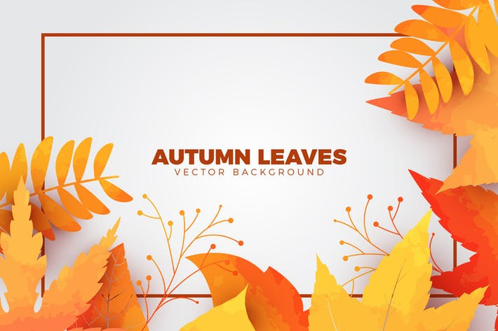 Thumbnail for Watercolor Autumn Leaves Vector Background
