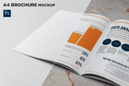 A4 Brochure Closeup Mockup