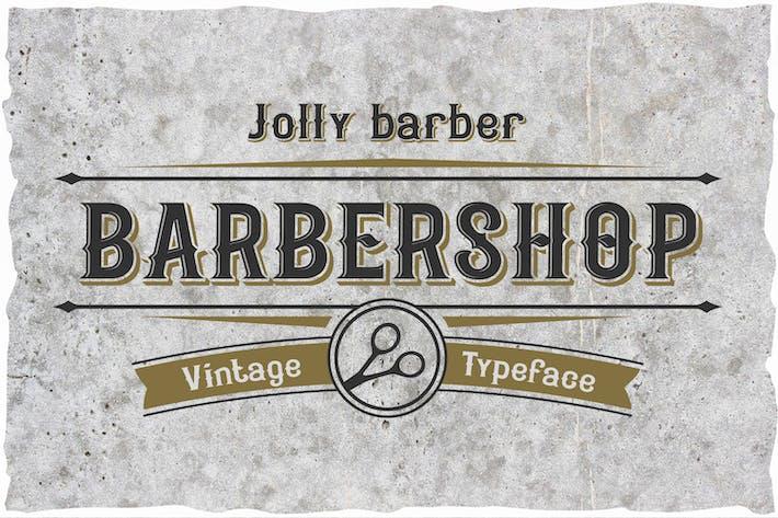 Jolly Barber. Tipo de letra vintage