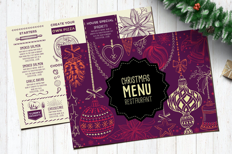 Christmas Menu Restaurant Template by BarcelonaDesignShop on