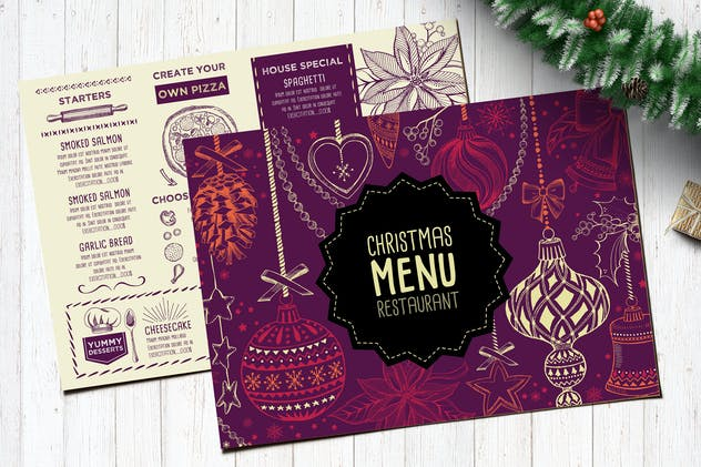 Christmas Menu Restaurant Template - product preview 2